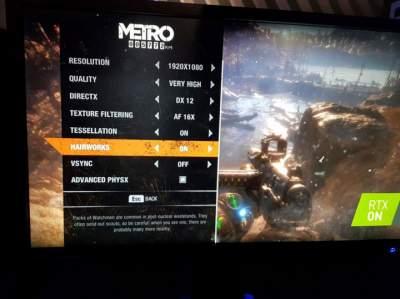 Metro Exodus будет поддерживать технологии Nvidia HairWorks, PhysX и RTX